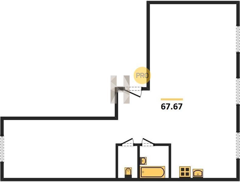 3-комнатная квартира в ЖК Парк Апрель