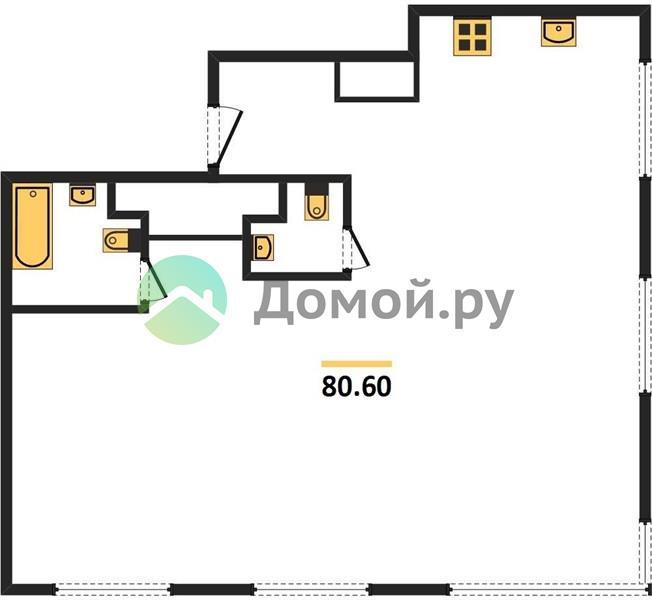 3-комнатная квартира в ЖК Level Амурская