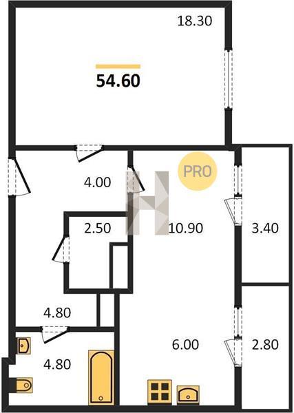 1-комнатная квартира в ЖК Лесопарковый