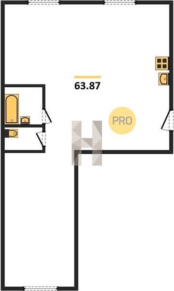 2-комнатная квартира в ЖК Парк Апрель