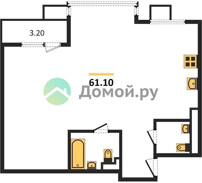 2-комнатная квартира в ЖК Новое Медведково