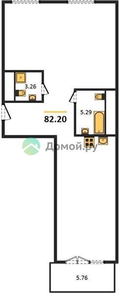 2-комнатная квартира в ЖК Дом Серебряный Бор