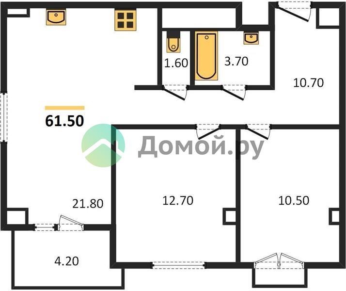 2-комнатная квартира в ЖК Дом 128