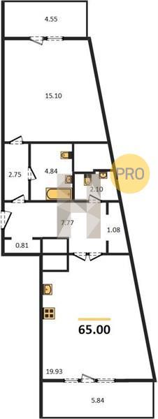 1-комнатная квартира в ЖК Маяк