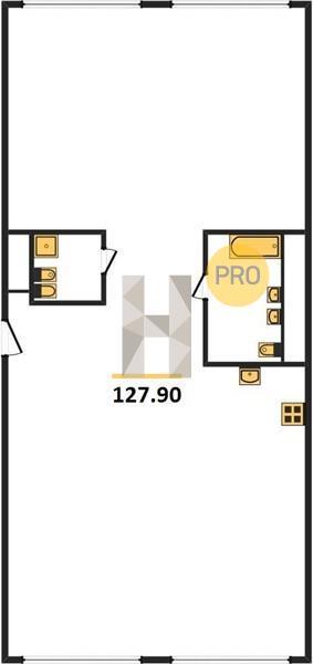 3-комнатная квартира в ЖК Лица