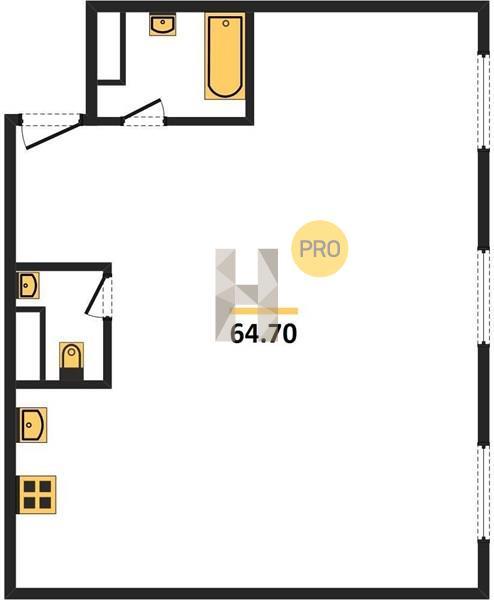 2-комнатная квартира в ЖК Ленинградка 58
